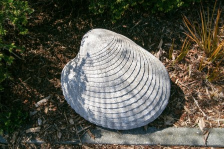 <p>Shell Sculpture outside Pauatahanui Nature Reserve</p>