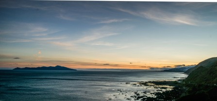 Sunrise over Kapiti on the way to our road trip - HDR Photography Ray Lovell