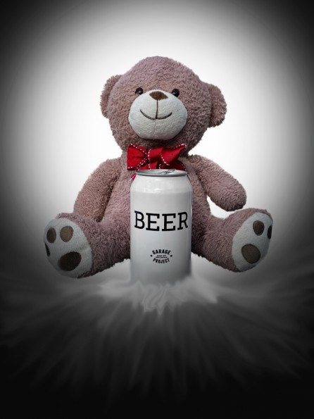 Title: Cheers Bears, 3rd, Photographer: Steve Courtenay, Judge's comments: (Been shopping for essentials I see) An effective image with no clutter and a creative twist. Nice and sharp with some added humour.