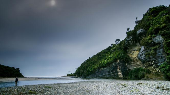 Cliff at ford on southern roadway - Photography Ray Lovell