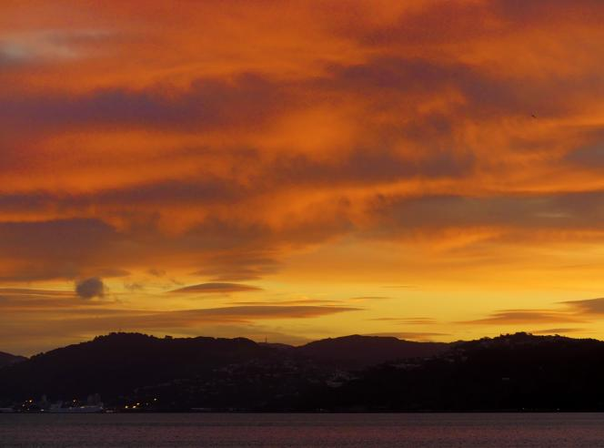 Petone Sunset by Wayne Kelsall